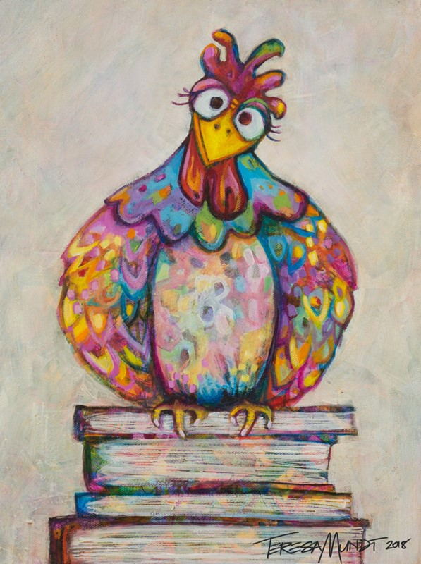 Book Book by Teresa Mundt_colourful_colorful_chook_art_painting