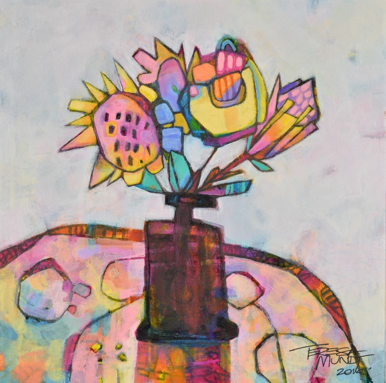 Flowers Four by Teresa Mundt_colourful_colorful_abstract_still life_floral_painting