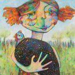 Girl and Guinea Fowl – Ltd Ed Print