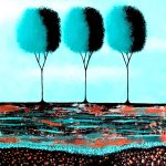 I Love Teal And Copper no 3 Two Canvas Set Diptych