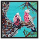 GALAHS IN THE GUM TREE NO 1 Ltd Ed print
