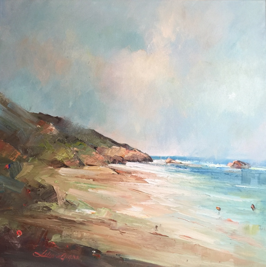 4-Signs of spring at the Back beach,61×61 cm, $ 700.00