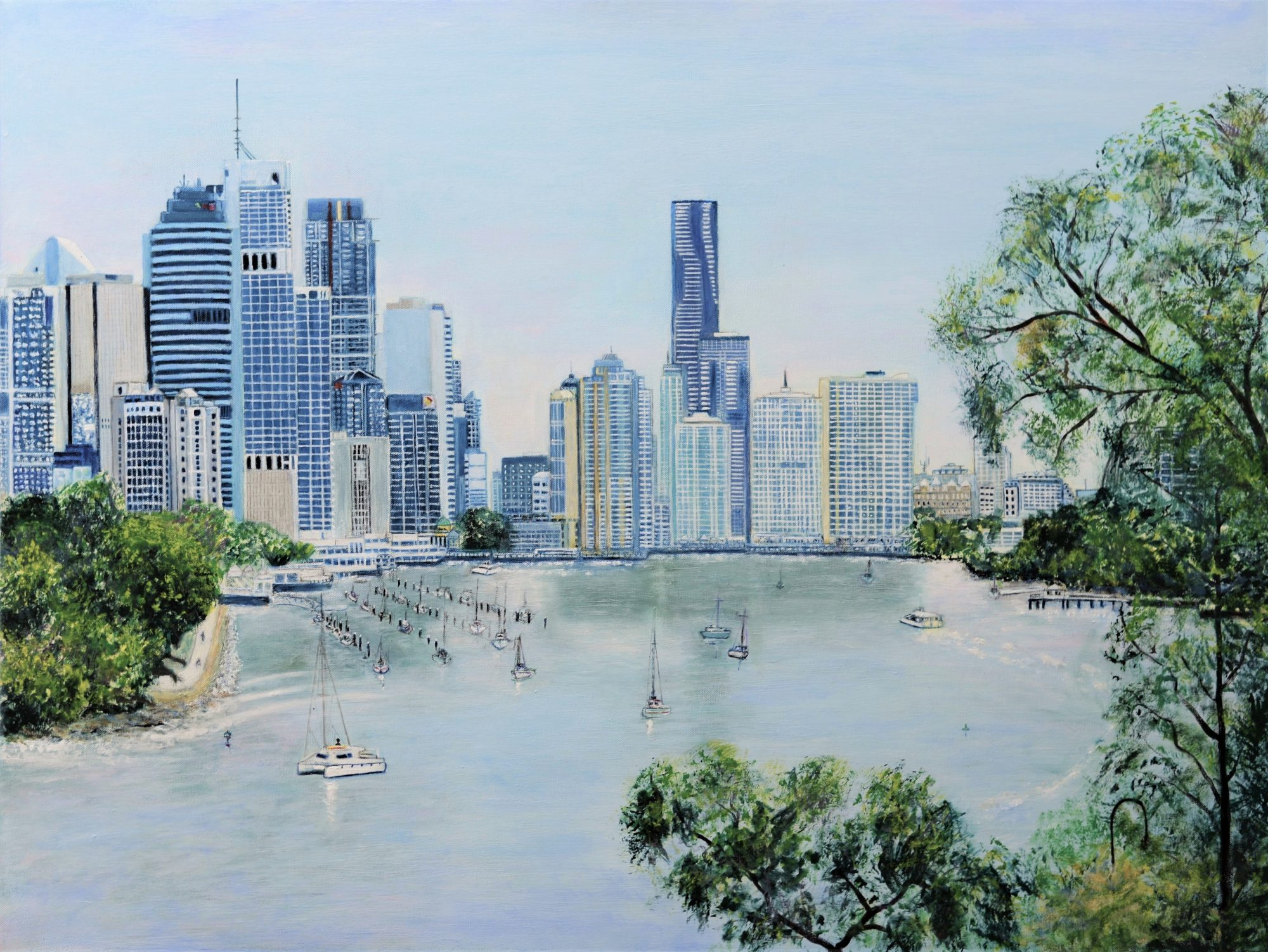 Brisbane City W 115cm x H76cm 3.8cm (2)