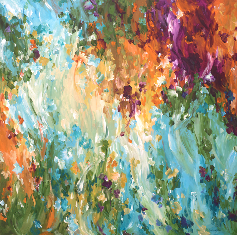 Morning-Light-40×40-by-Amber-Gittins-abstract-artist
