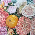 A LIFE TIME BLESSING  Orange And Chrysanthemum  Ltd Ed Print