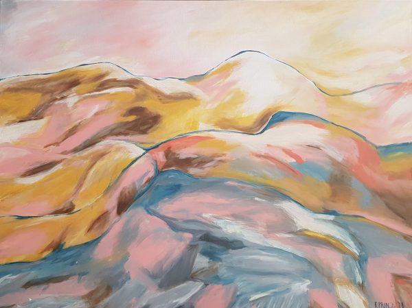 Sunset Peaks 122x92cm