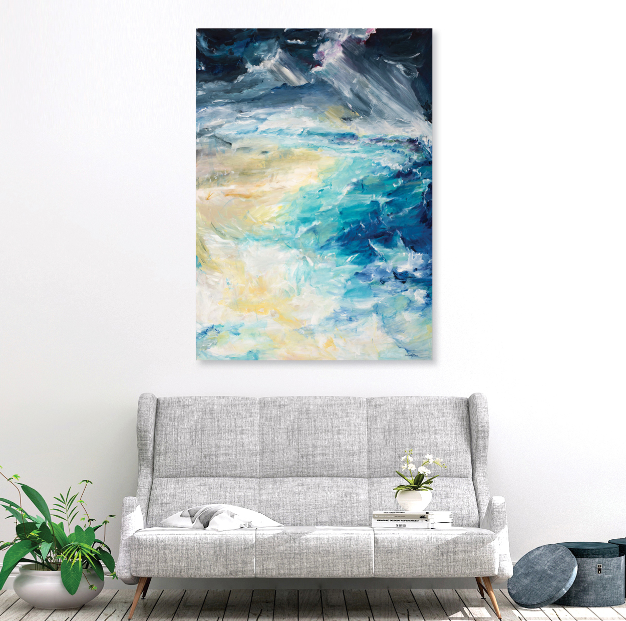 The Perfect Storm original painting by Australian artist Amber Gittins. Wall art 2