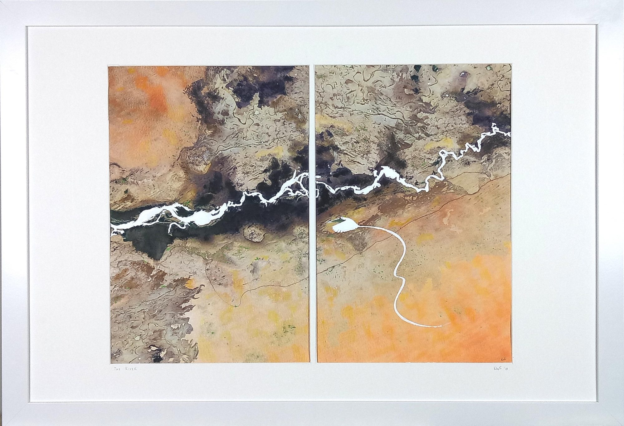 The River with frame
