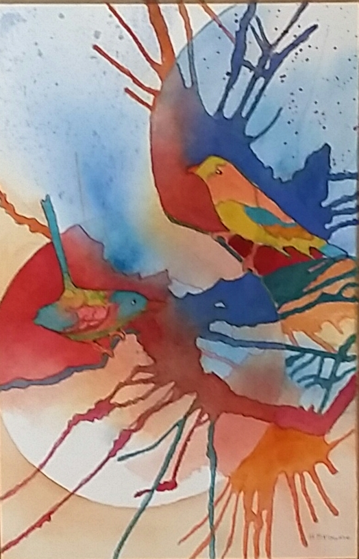 Two Birds 19x27cm
