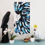 Black Cockatoo on White