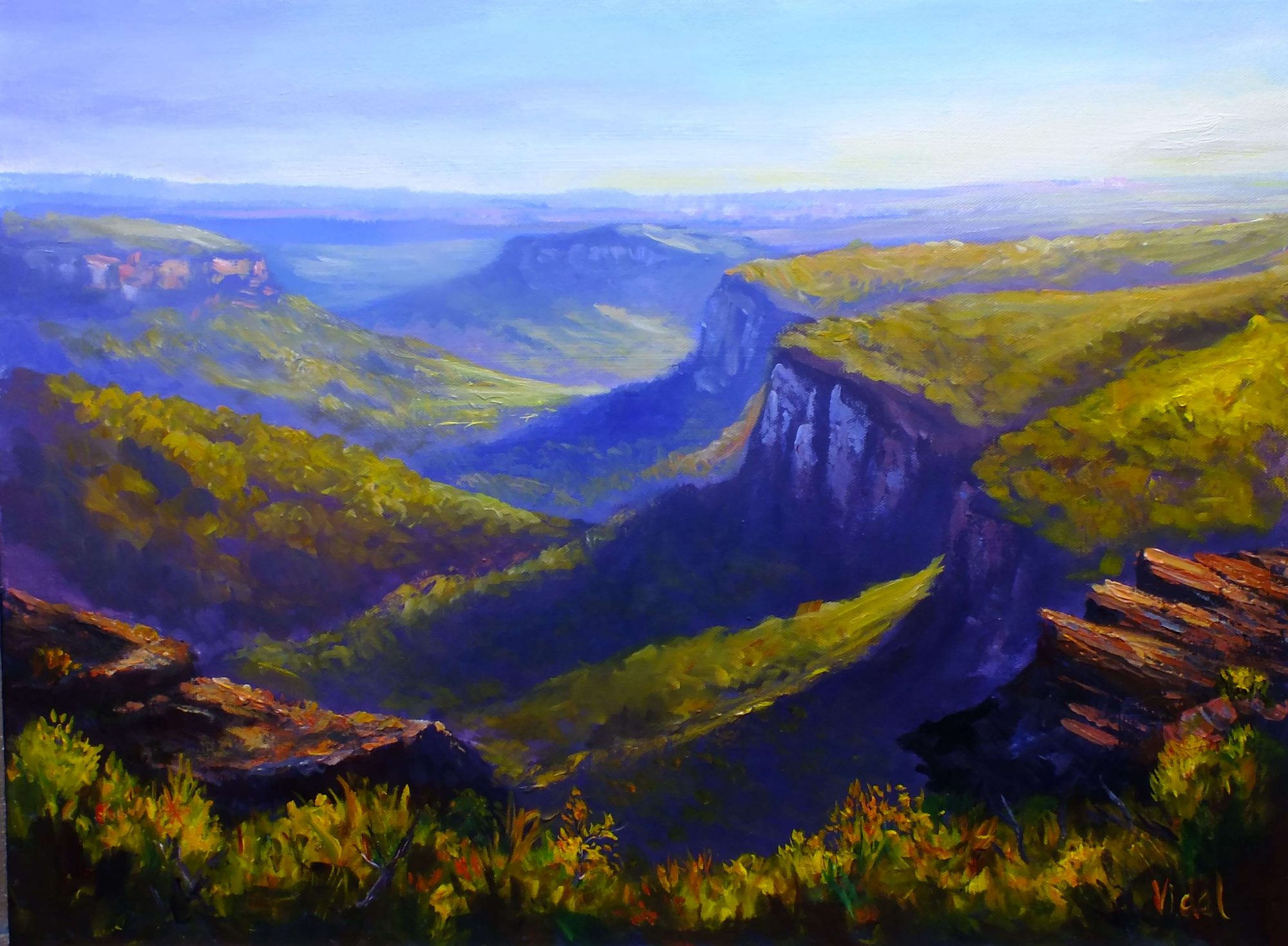 Acrylics on canvas Mt Banks Blue Mountains s