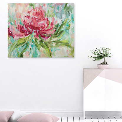 Lonesome Waratah. Amber Gittins art. Abstract painting cropped