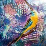 Parrot Pinup No 1 Turquoise Parrot