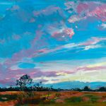 *SOLD* Extremely Limited Edition Fine Art Reproductions Available (see other art)   Sunrise Over a Queensland Farmland