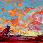 *SOLD*  Original Artwork Red Earth and Blue Sky (limited editions available)
