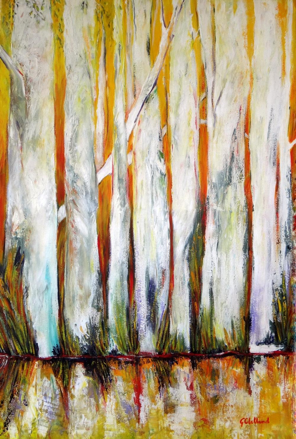 ……Tall Trees on the Edge 91×61 acrylic