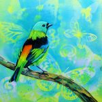 Feathery all-sorts No 4 – Green headed Tanager
