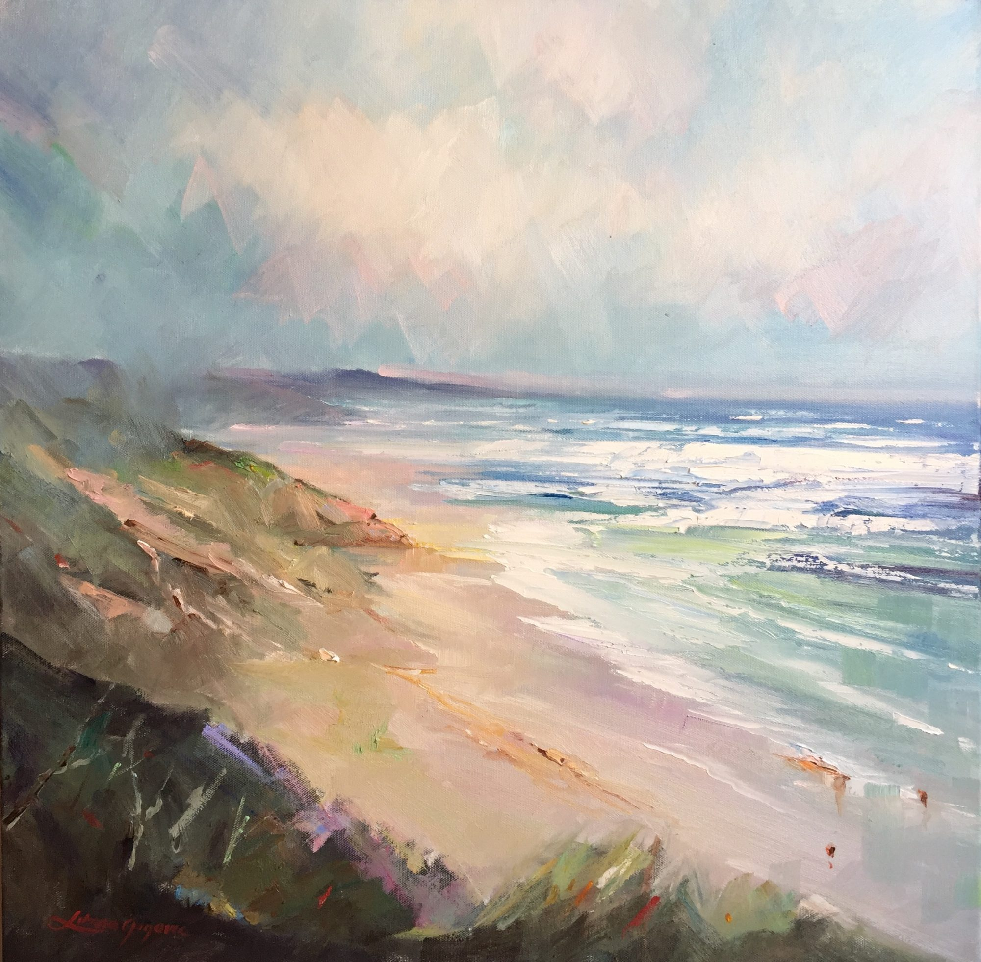 50- portsea – the back beach #9, 61x61cm