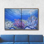 Oceans Blush I and II Diptych