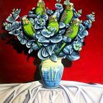 Budgies in Remued_Laural Retz_Art Lovers Australia