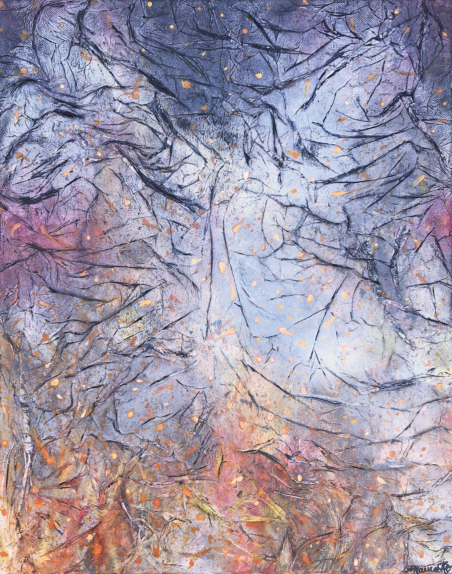 Bushfire Embers And Charcoal R