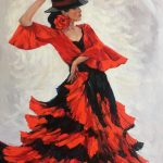 Flamenco dancer in a hat