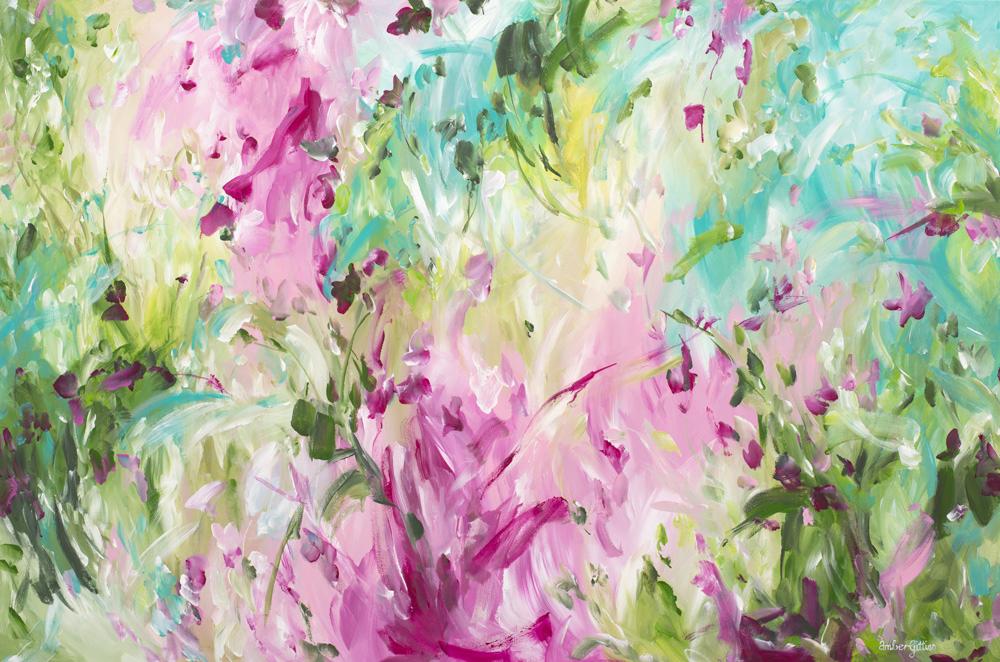 Innocent Beginnings By Australian Abstract Artist Amber Gittins