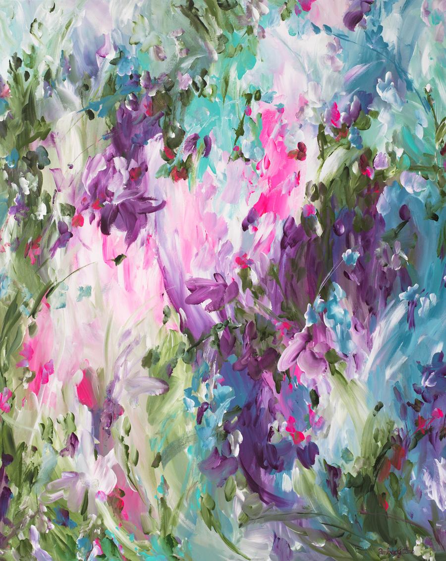 Peek A Boo By Abstract Artist Amber Gittins