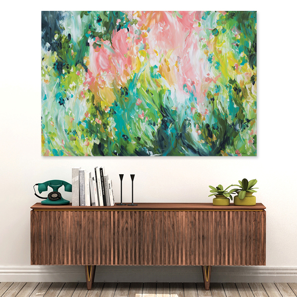Springtime Adventures. Abstract painting by Amber Gittins Australian artist