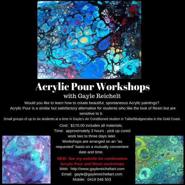 Updated Acrylic Pour Workshops