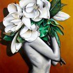 White Magnolias Ltd Ed Print of 30
