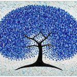 Blue Blossom Tree – SOLD