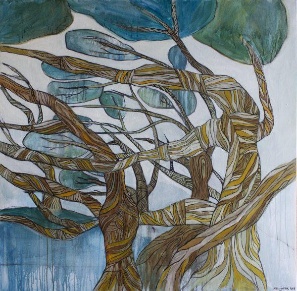 Painting Of Tea Trees Med