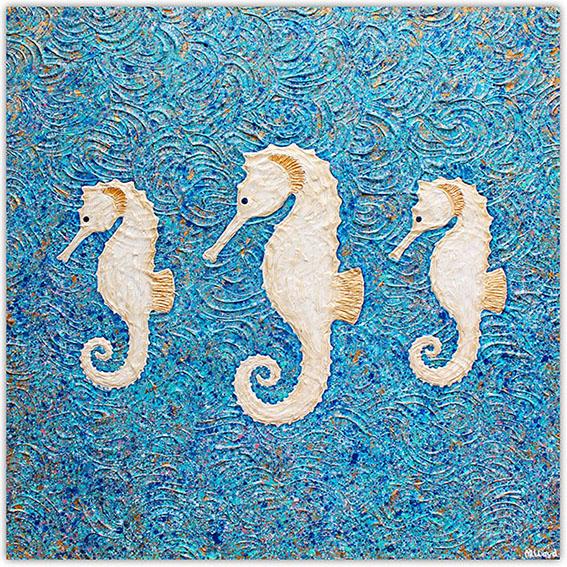 Seahorse Textural Painting Artist Miranda Lloyd Art Gallery Australia