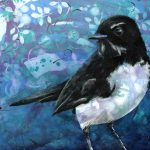 Willie Wagtail – original acrylic painting