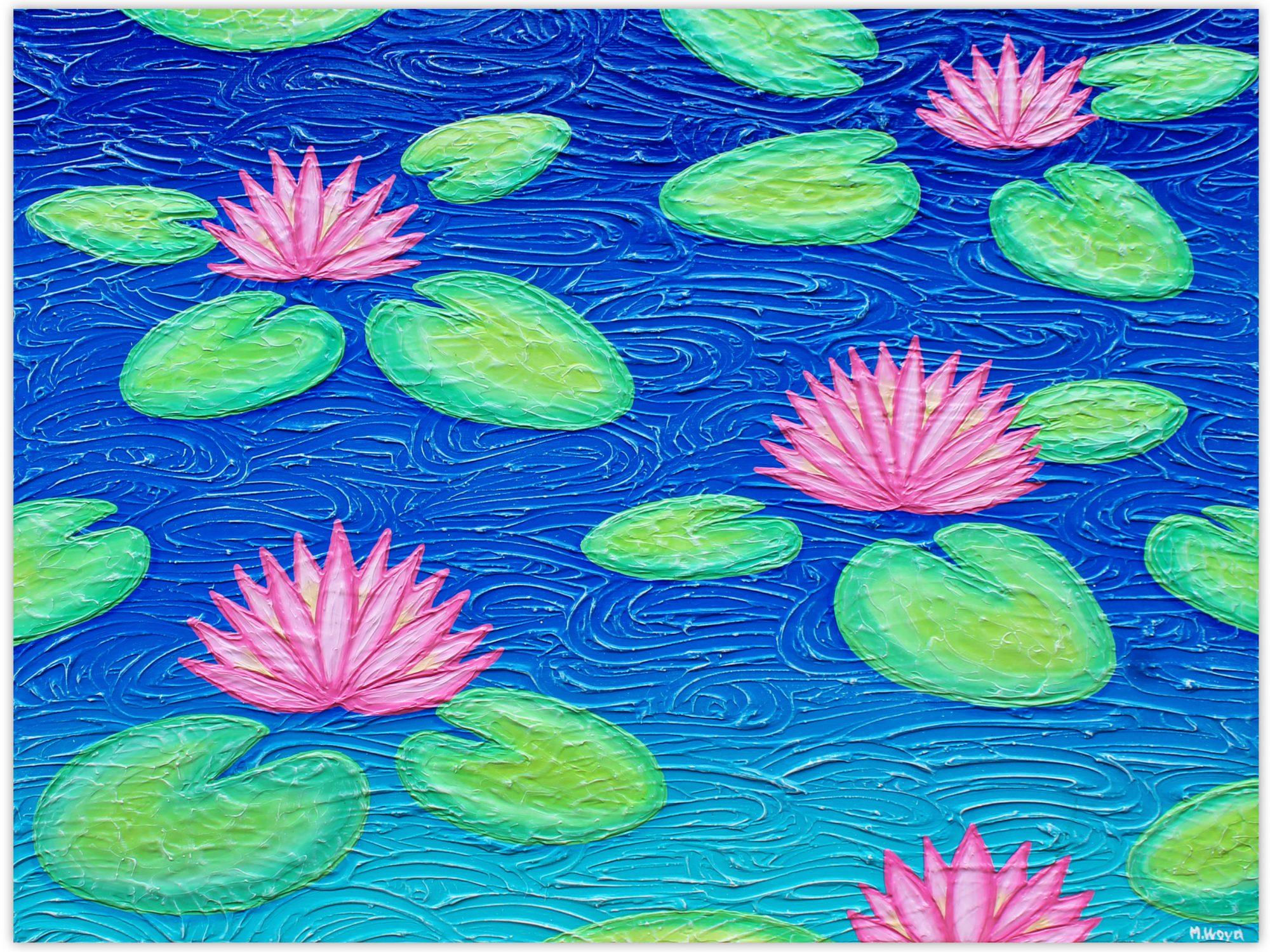 Water Lillies Miranda Lloyd Artist Impressionism Australia