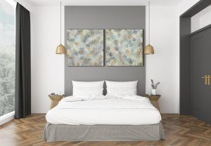 Bio Cluster Bloom Ii & Iii Grey Wall Bedroom