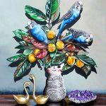 Blooming Blue Budgies Ltd Ed Print of 30