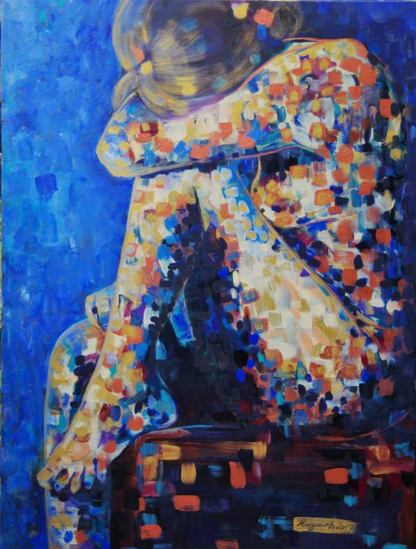 Bonwick Marguerite Title; Painted Lady #9;gold. 76.2x101.6cm