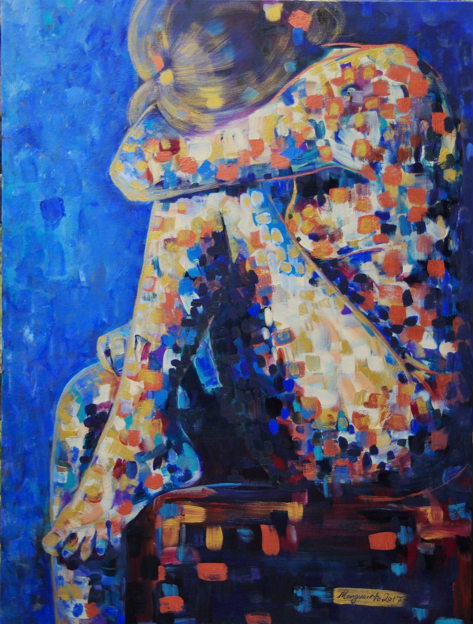 Bonwick Marguerite Title; Painted Lady #9;gold. 76.2×101.6cm