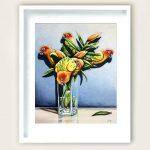 Sun Conure Lilies Ltd Ed Print