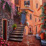 The back streets, Vernazza, Ltd Ed Print Cinque Terre coast, Italy