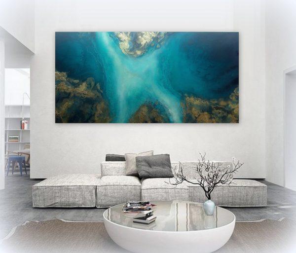 Large Ocean Art For Sale Jade Reef By Petra Meikle De Vlas