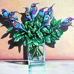 Long Stemmed Sunbirds Ltd Ed Print of 30