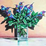 Long Stemmed Sunbirds Ltd Ed Print of 30