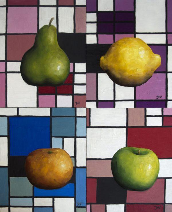 Mondrian Set Of Four A