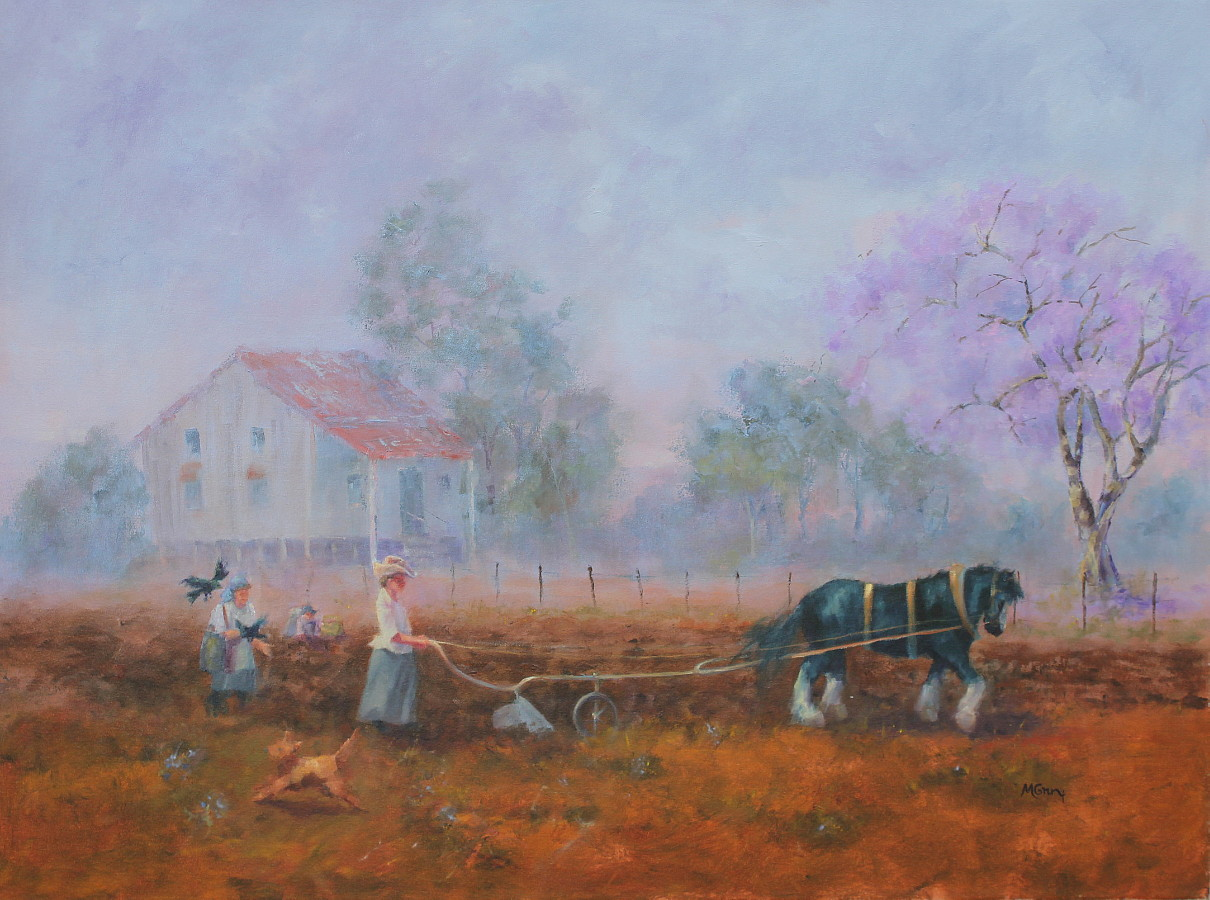Ploughing The Potato Field ©2018 Marie Green