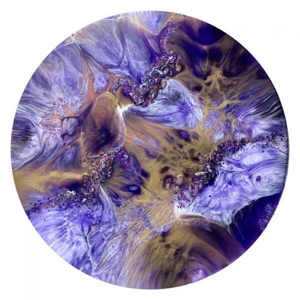 Purple Passion, Resin Artwork By Gayle Reichelt