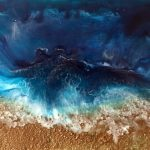 Tides In – Resin Beach Scene aerial view