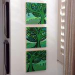 Viridescent Trio – Acrylic Painting